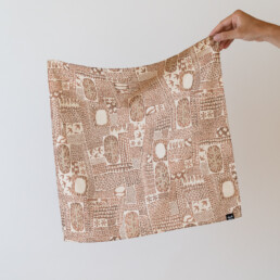 TAHATA・田畑をテーマにしたオリジナルデザインのハンカチ designed by ELEPATI